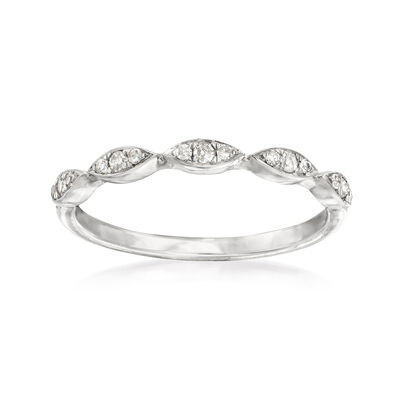 .10 ct. t.w. Diamond Stackable Ring in 14kt White Gold, , default