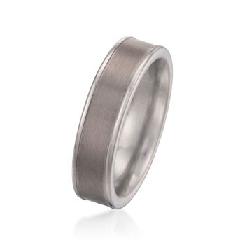 Men's 6mm Tungsten Carbide Wedding Ring, , default