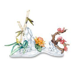 """Swarovski Crystal """"Four Noble Plants"""" Multicolored Crystal Figurine, , default"""