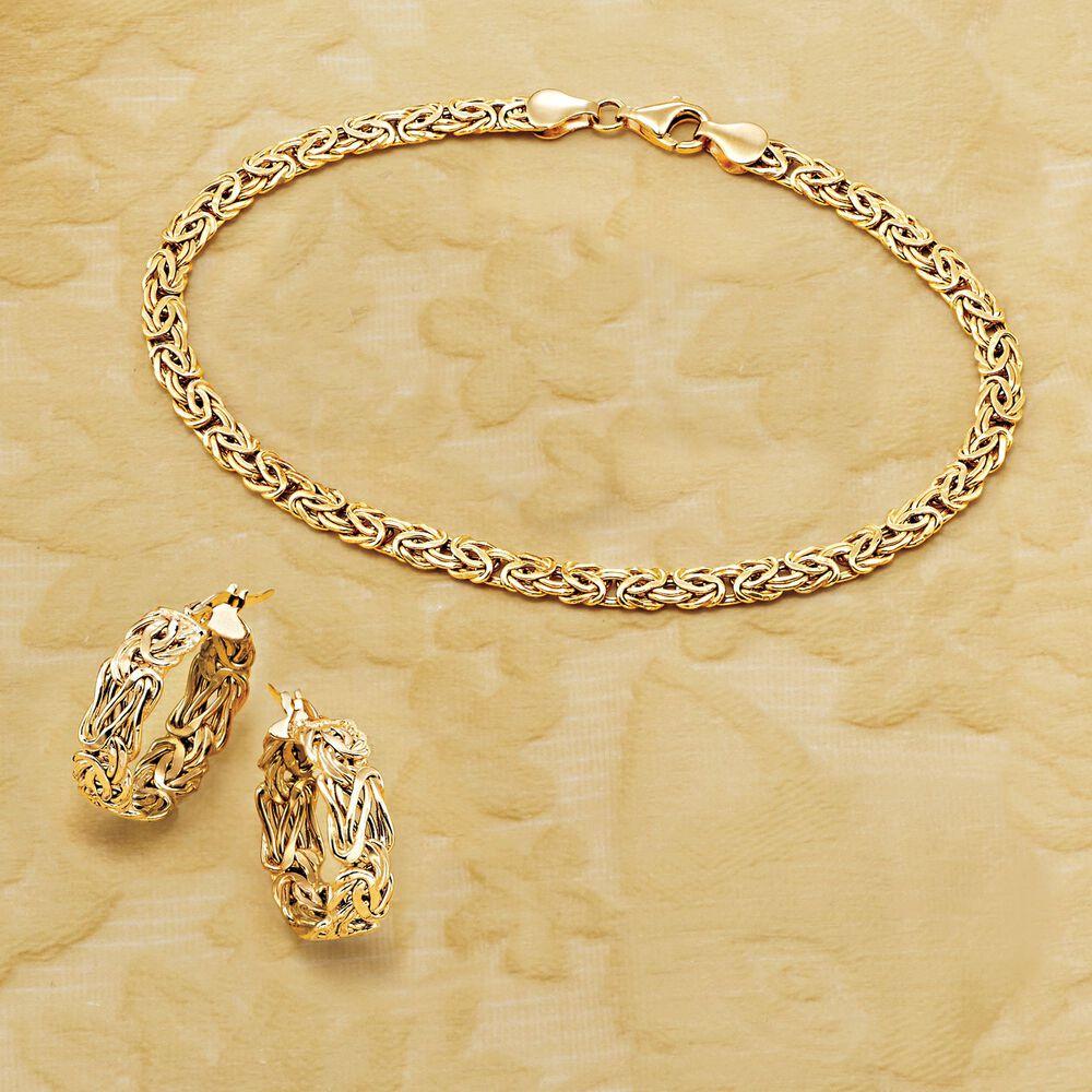 Default 4mm 14kt Yellow Gold Byzantine Bracelet
