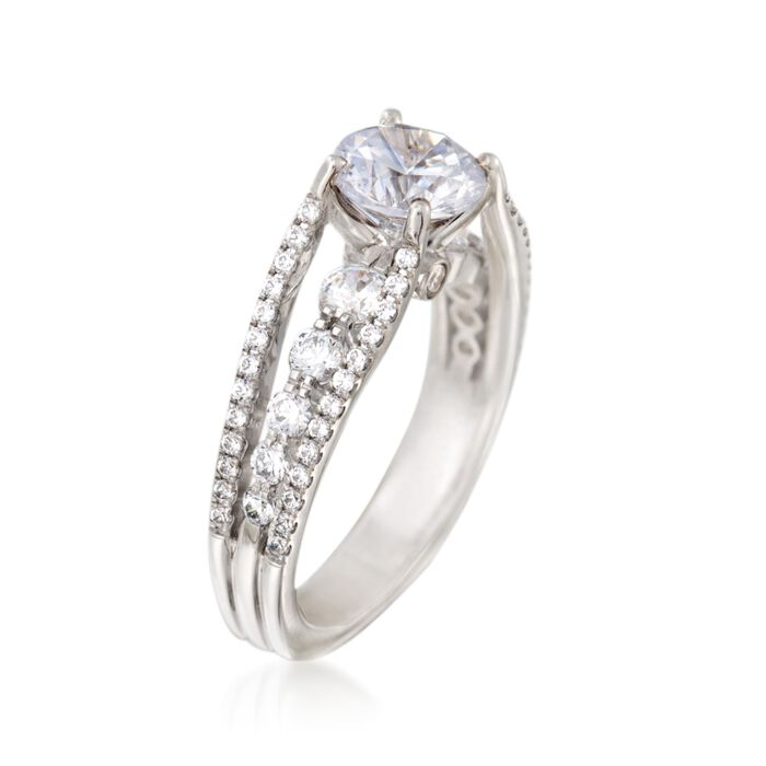 Simon G. .91 ct. t.w. Diamond Engagement Ring Setting in 18kt White Gold