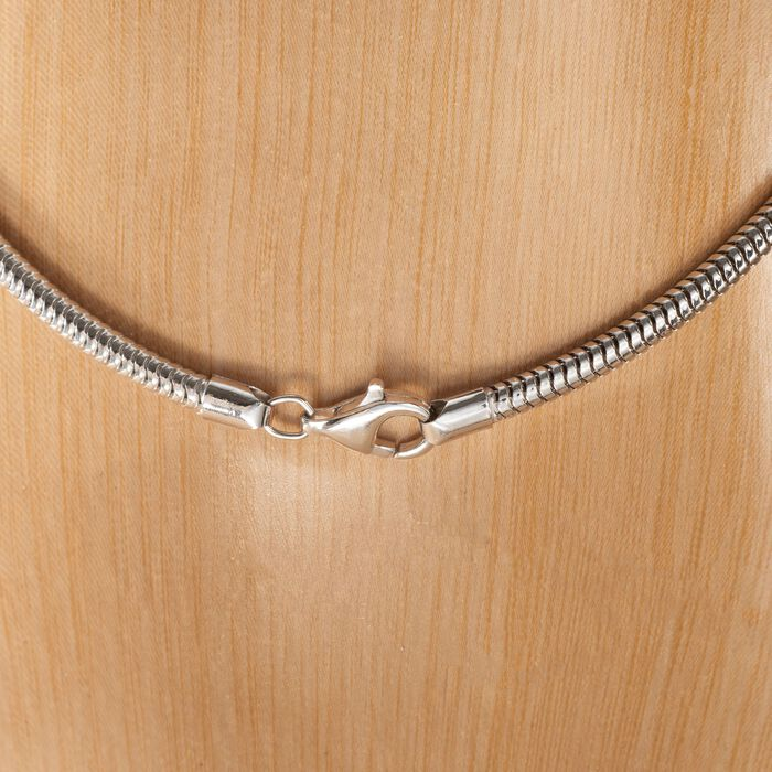 3mm Sterling Silver Snake Chain Necklace