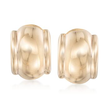 14kt Yellow Gold Curved Clip-On Earrings, , default