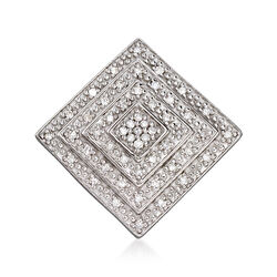 .15 ct. t.w. Diamond Concentric Square Pendant in Sterling Silver, , default