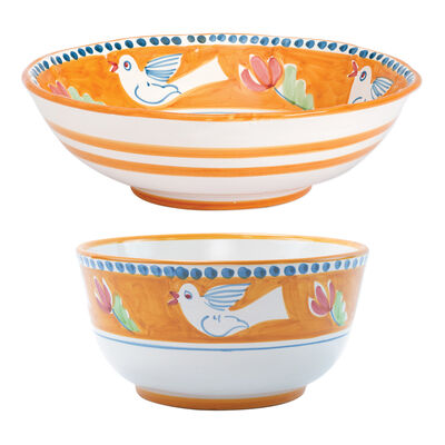 """Vietri """"Campagna Uccello"""" Serving Bowl from Italy"""