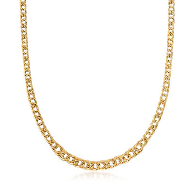 Italian 14kt Yellow Gold Graduating Link Necklace
