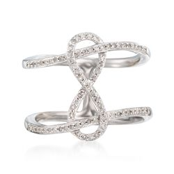 .25 ct. t.w. Diamond Infinity Symbol Ring in Sterling Silver, , default