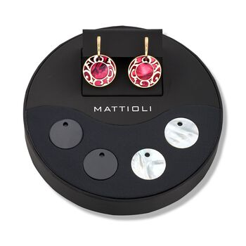 "Mattioli ""Siriana"" 18kt Yellow Gold Earrings with Four Interchangeable Drops: 18kt Gold and Multi-Stone. 1 1/4"", , default"