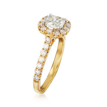 Henri Daussi 1.42 ct. t.w. Certified Diamond Engagement Ring in 18kt Yellow Gold, , default