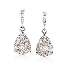1.00 ct. t.w. Diamond Teardrop Earrings in 14kt White Gold, , default