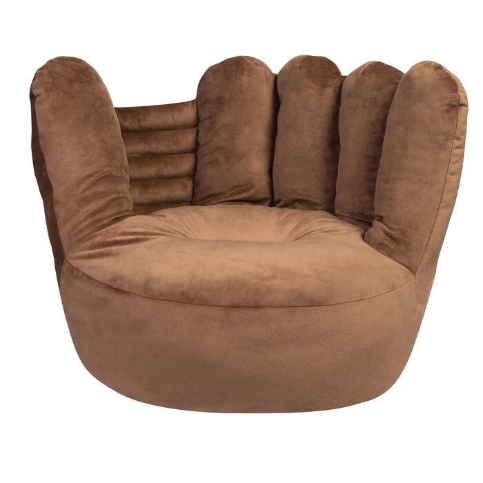 Children's Plush Baseball Glove Chair, , default