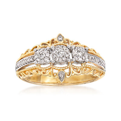 .20 ct. t.w. Diamond Cluster Ring in 14kt Two-Tone Gold