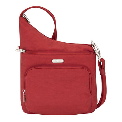 Anti-Theft Essential North/South Red Crossbody Bag