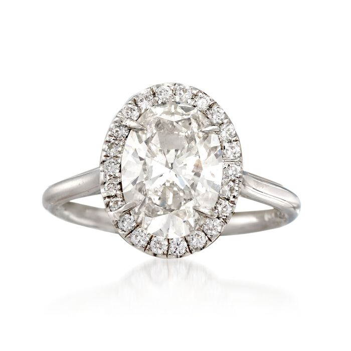 Majestic Collection 2.74 ct. t.w. Oval Diamond Ring in 18kt White Gold
