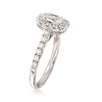 Henri Daussi 1.29 ct. t.w. Diamond Engagement Ring in 18kt White Gold