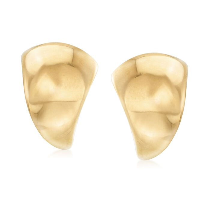 Italian 18kt Gold Over Sterling Silver Curved Triangle Earrings, , default