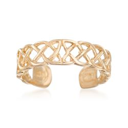 14kt Yellow Gold Celtic Knot Toe Ring, , default