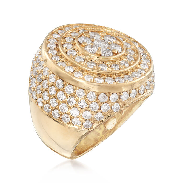 C. 1980 Vintage 2.75 ct. t.w. Diamond Circle Ring in 14kt Yellow Gold