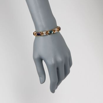 "C. 1970 Vintage 10.70 ct. t.w. Multi-Stone Bangle Bracelet in 14kt Yellow Gold. 7"", , default"