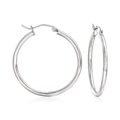 2mm Sterling Silver Hoop Earrings