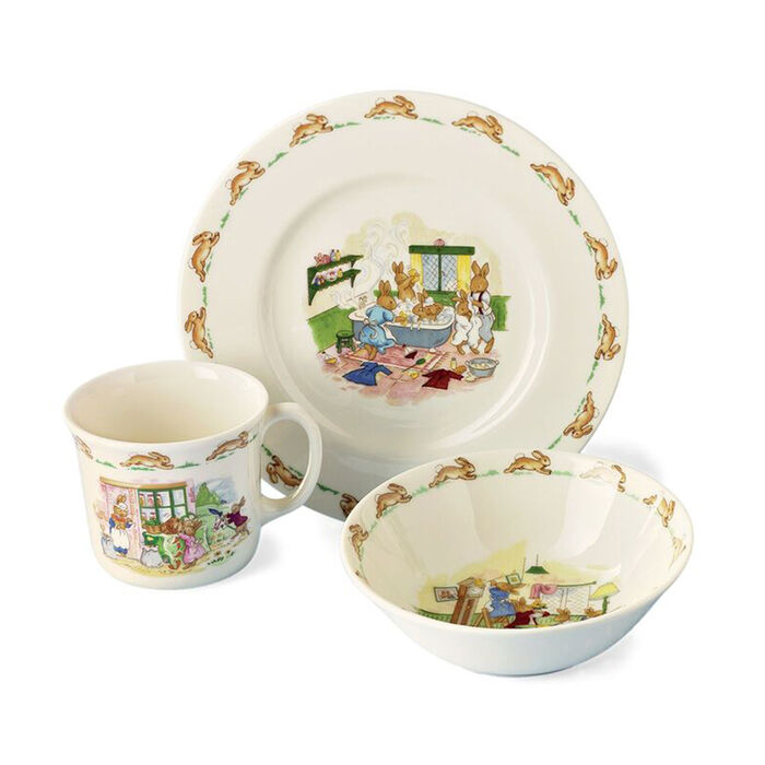 """3-pc. Dinnerware """"Bunnykins"""" Child's Dining Set by Royal Doulton"""