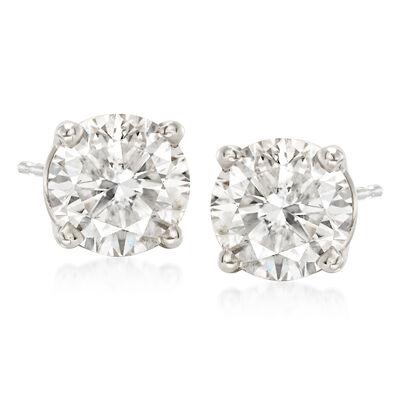 2.75 ct. t.w. Diamond Stud Earrings in Platinum, , default