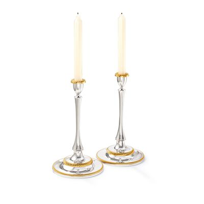 "Reed & Barton ""Roseland"" 2-pc. Two-Tone Candlestick Set, , default"