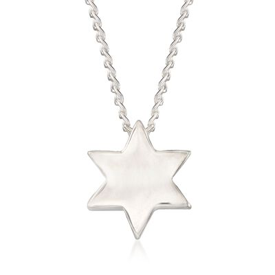 "Zina Sterling Silver ""Contemporary"" Star of David Necklace, , default"