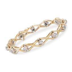 "C. 1990 Vintage .90 ct. t.w. Diamond Bracelet in 14kt Yellow Gold. 7"", , default"