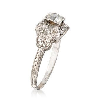 C. 1950 Vintage .50 ct. t.w. Diamond Ring in Platinum. Size 5, , default