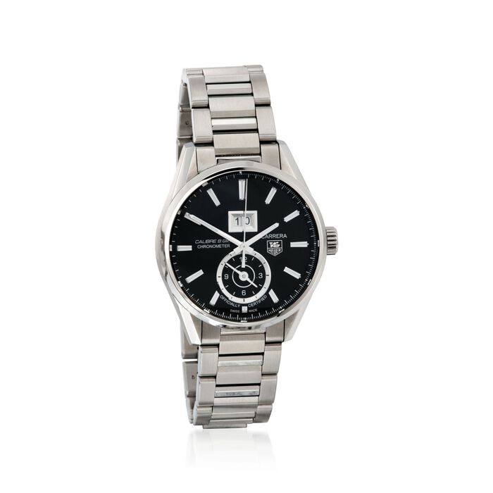 TAG Heuer Carrera Gmt Men's 41mm Stainless Steel Watch - Black Dial , , default