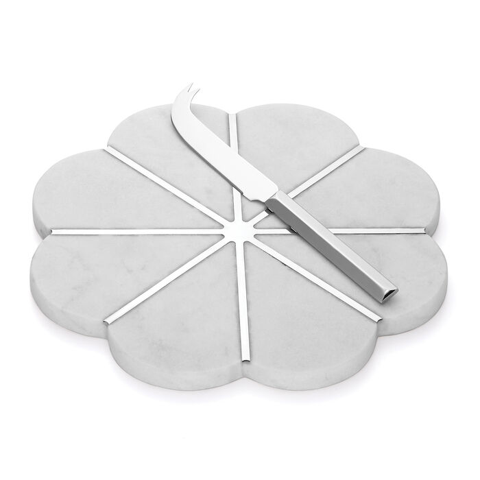 """Kate Spade New York """"Gramercy"""" Marble and Metal Cheese Board and Knife Set, , default"""