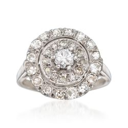 C. 1950 Vintage 1.10 ct. t.w. Diamond Ring in 14kt White Gold, , default