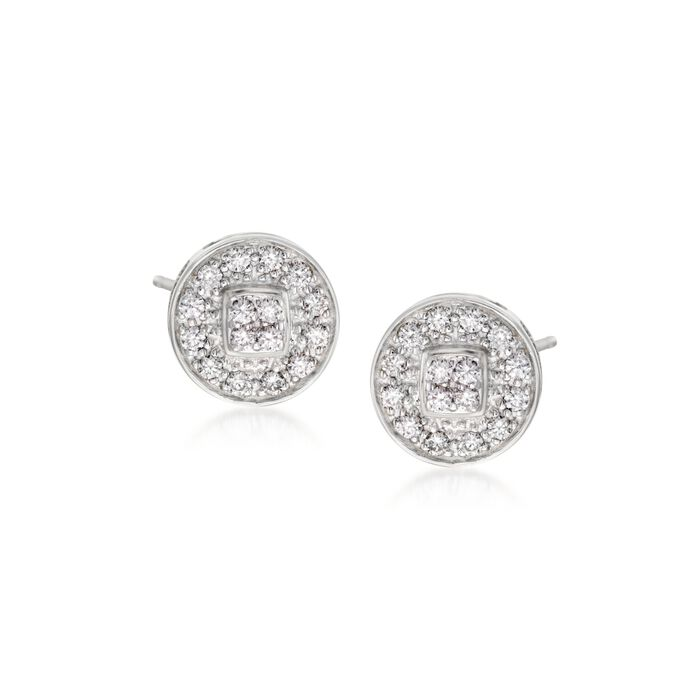 "ALOR ""Classique"" .27 ct. t.w. Diamond Stud Earrings in 14kt White Gold"