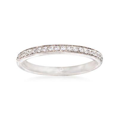 Gabriel Designs .21 ct. t.w. Diamond Wedding Ring in 14kt White Gold, , default