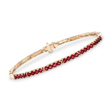 2.40 ct. t.w. Ruby Bar Link Bracelet in 14kt Yellow Gold, , default