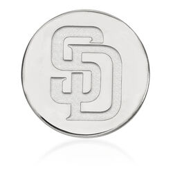 Sterling Silver MLB San Diego Padres Lapel Pin, , default