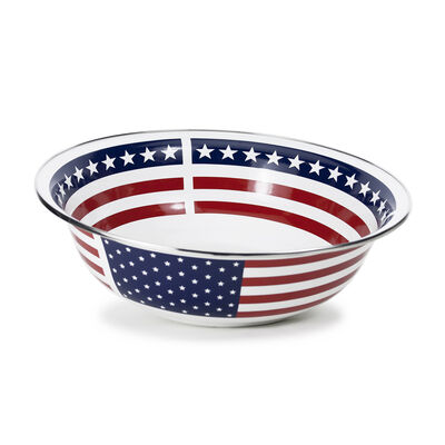 "Golden Rabbit ""Stars and Stripes"" Serving Basin, , default"