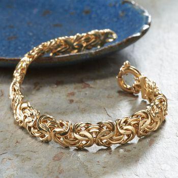 Italian 18kt Yellow Gold Byzantine Bracelet, , default