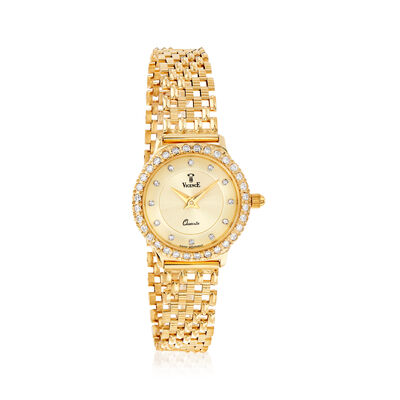 Vicence Women's 24mm .46 ct. t.w. Diamond Watch in 14kt Yellow Gold, , default