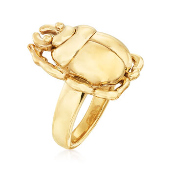 14kt Yellow Gold Scarab Beetle Ring, , default