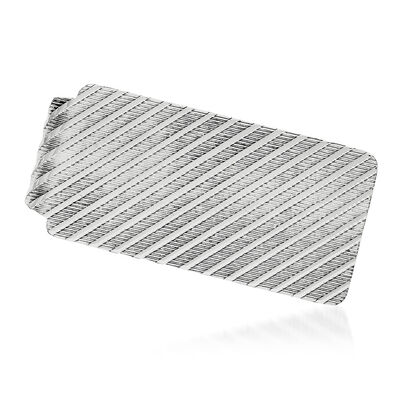 Sterling Silver  Textured Money Clip, , default