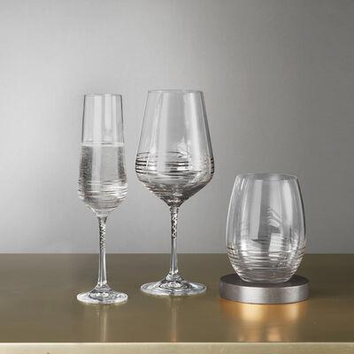 "Mikasa ""Electric Boulevard"" Platinum-Painted Crystal Drinkware, , default"