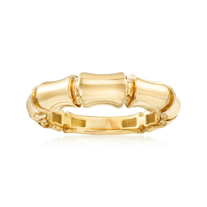 Italian Bamboo Ring in 18kt Yellow Gold, , default