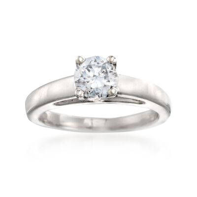 C. 2000 Vintage .90 Carat Diamond Solitaire Ring in Platinum, , default