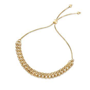 14kt Yellow Gold Multi-Link Bolo Bracelet, , default