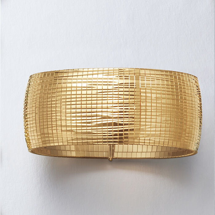 Italian 18kt Gold Over Sterling Omega Bracelet