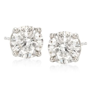 3.00 ct. t.w. Diamond Stud Earrings in 14kt White Gold, , default