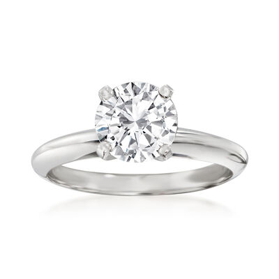 Platinum Four-Prong Engagement Ring Setting