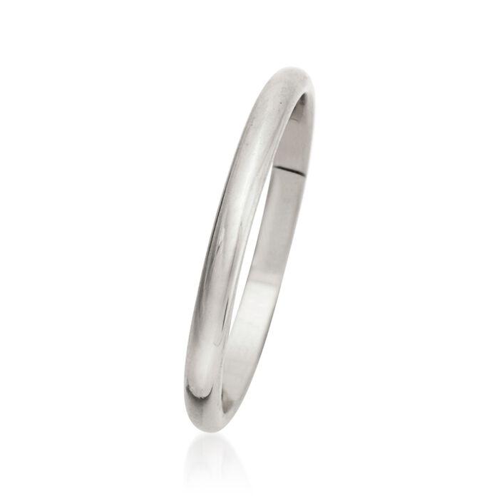 Women's 2mm 14kt White Gold Wedding Ring